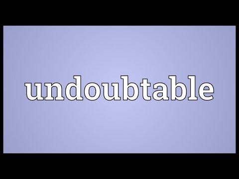Header of undoubtable