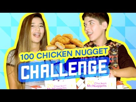 100 CHICKEN NUGGET CHALLENGE W/ CATSELMAN   MARIO SELMAN