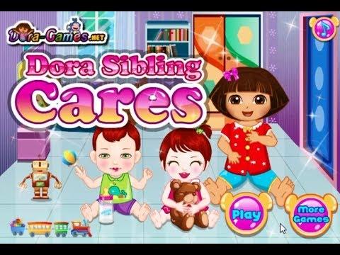 Dora The Explorer Online Games - Dora Sibling Care Game