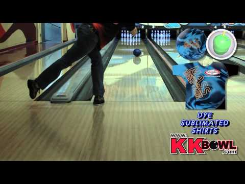 Columbia 300 Mass Eruption Bowling Ball Thrown By Brandon Allred of K&K Bowling Services