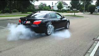 BMW 530 Burnout