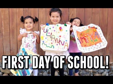 THEIR FIRST DAY OF SCHOOL! - September 12 2017 -  ItsJudysLife Vlogs