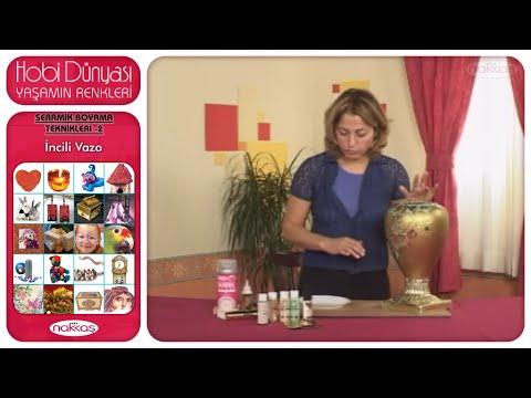 Seramik Boyama Teknikleri 2 - İncili Vazo