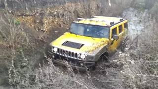 Hummer H2 Off roading in mud I.