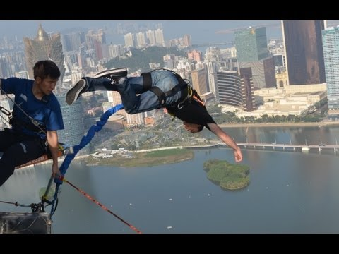 World's Highest Bungy Jump - Macau Tower 233 m  -     Extreme Bungee Jump