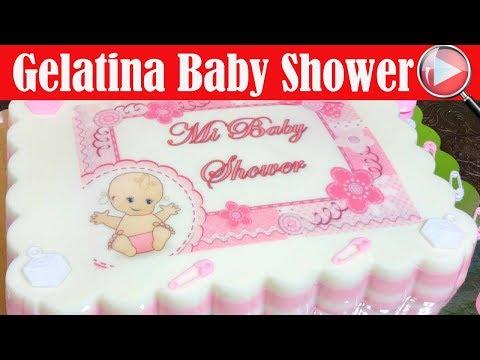 Gelatina con Transfer de Baby Shower para Niña - Recetas en Casayfamiliatv
