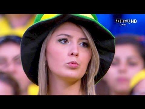 Sexy Brazilian Blonde Girl @ Brazil 2-1 Uruguay 1080p Confederations Cup semi-final FullHD
