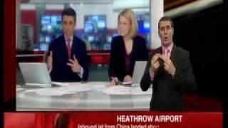 NEWS - Heathrow 777 Crash - The moment the News Start Report