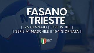 Serie A1M [15^]: Fasano - Trieste 24-21