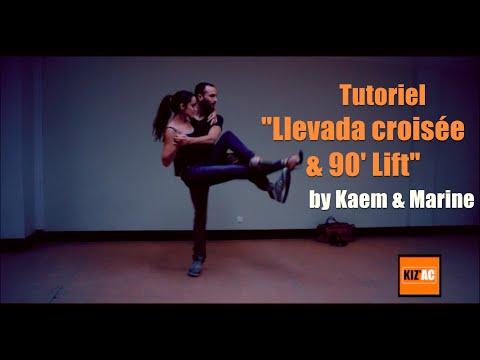 """Kaem & Marine Kiz'academy - Tutoriel Kizomba - """"Llevada Croisée + 90'lift"""""""