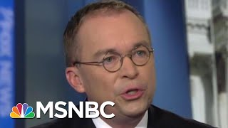 WH Tension: Bolton Clashes With Mulvaney As Trump Bribery Claims Go Public | MSNBC