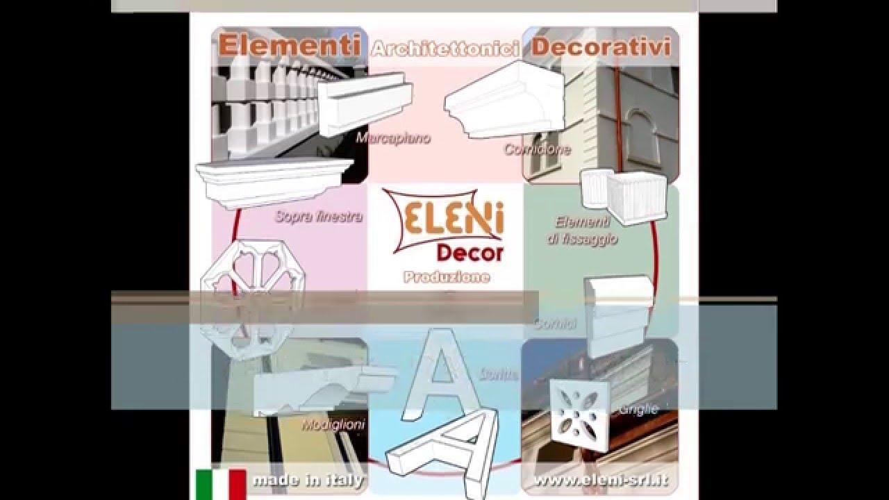 Cornici in polistirolo decorative ed elementi architettonici in polistirolo -...