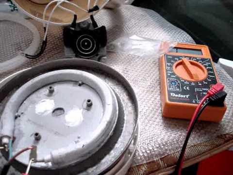 Видео как проверить чайник мультиметром