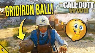 "Call of Duty WWII: ALL ""HIDDEN GRIDIRON BALL"" Locations in Headquarters! (CoD WW2 Easter Egg)"