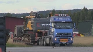 Transport of Volvo EC480E on Volvo FH16 610hp 8x4