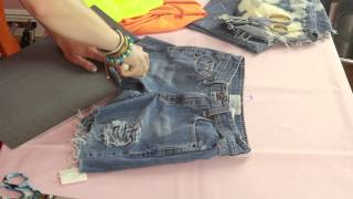 How Can I Fray & Distress Jean Shorts Myself? : Style Creations