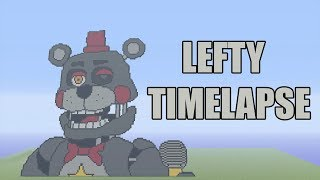 Minecraft Lefty Pixel Art Timelapse | FNAF 6 | Five Nights at Freddy's Pizzeria Simulator