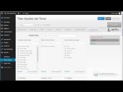 Packs Webempresa WordPress con framework Gantry: Overrides