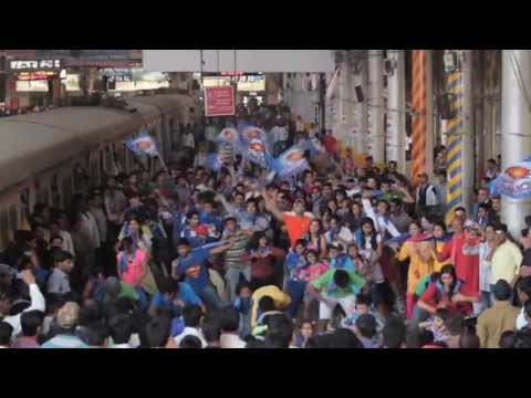 Mumbai Indians - Flash mob @ CST Station