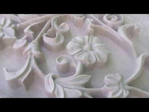 Мрамор, Камин, облицовка. Собственное производство. Выкладка перед упаковкой
