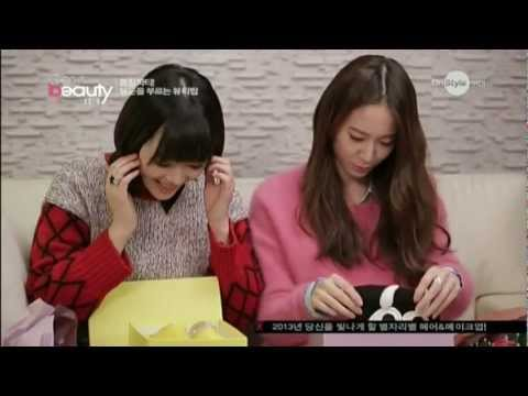 [中�]130227 Onstyle Get it Beauty Krystal & Sulli Cut