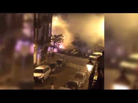 Massive fire & 'explosions' in Brussels as eight vehicles set ablaze