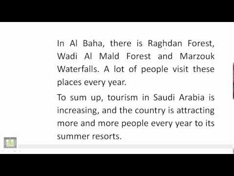 Reading U 2 - L 2 : Tourism and Summer Resorts in Saudi Arabia