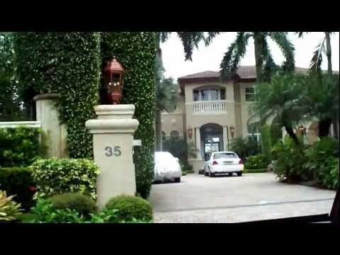 Palm Island and Star Island Florida drive through complete!!Birdman's Mansion Scott Storch Mansion