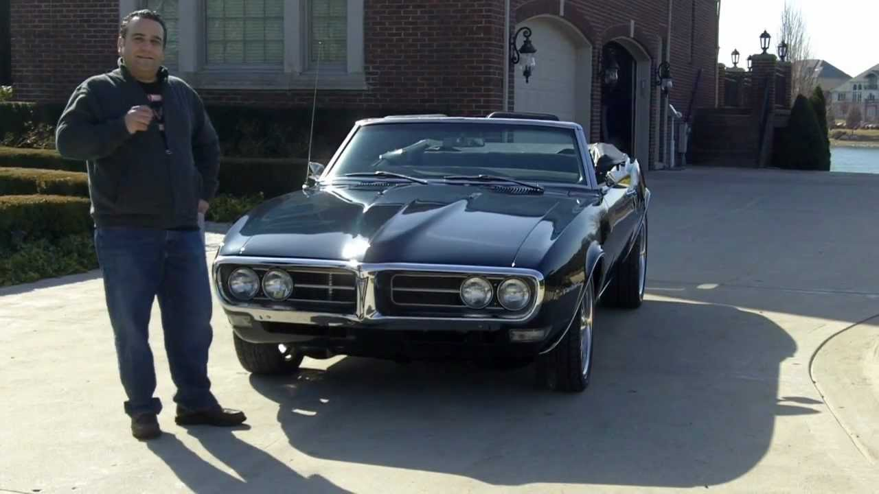 1968 Pontiac Firebird Convertible Classic Muscle Car For