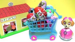 Paw Patrol Skye goes Shopping for baby toys surprise LOL Chocolate Egg