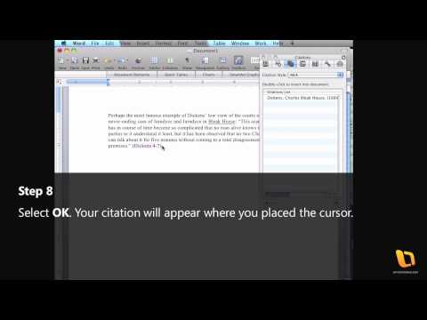How to create citations in Microsoft Office 2008 for Mac
