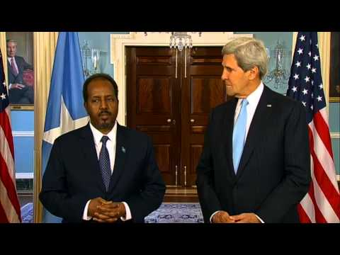 Secretary Kerry Delivers Remarks With Somali President Mohamud