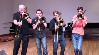 Improvised Trombone Quartet 2 W Paul The Trombonist Jim Miller Alex Iles