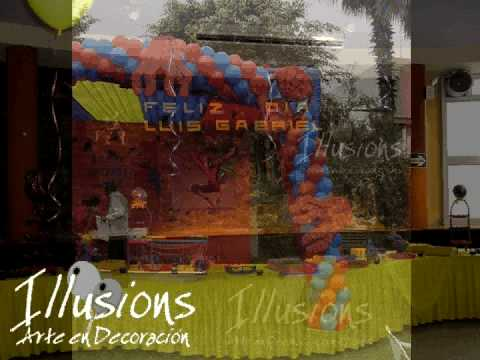 Decoración de Fiestas Infantiles - YouTube