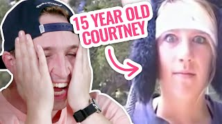 WE REACT TO COURTNEY'S OLD YOUTUBE VIDEOS