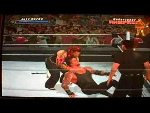 Jeff Hardy VS. UnderTaker in SVR 2008