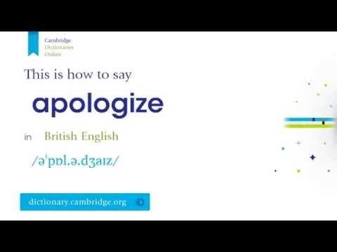 How to say apologize