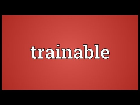 Header of trainable