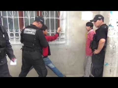 SERENAZGO CAJAMARCA - Captura a sujetos por robo de autopartes/ 05-06-14