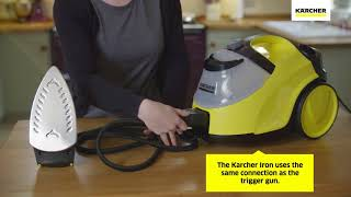 Karcher SC4 Steam Cleaner - How To Attach The Karcher Iron