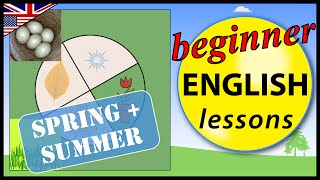 Time, Seasons spring and summer in English, Beginner English Lessons for Children