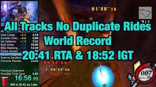 Kirby Air Ride - All Tracks No Duplicate Rides [WR]: 20:41.07 RTA & 18:52.97