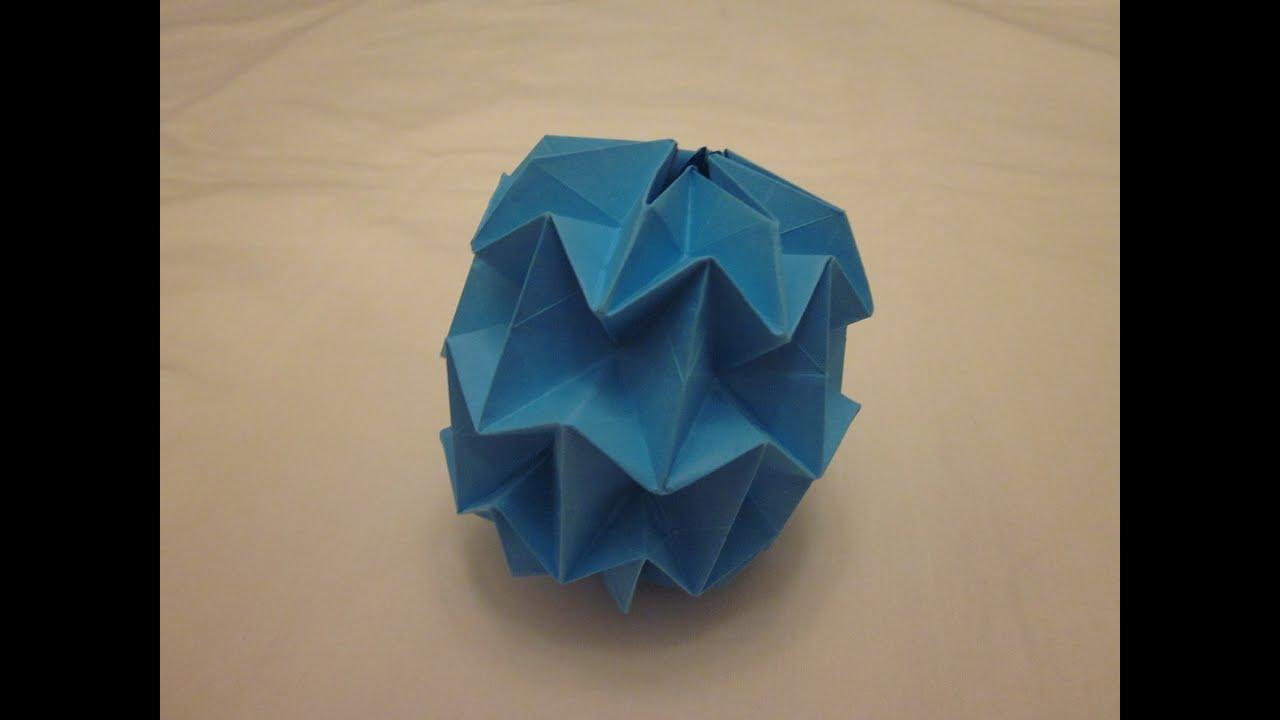 Origami Mini Magic Ball Tutorial (Yuri Shumakov) - YouTube - photo#26