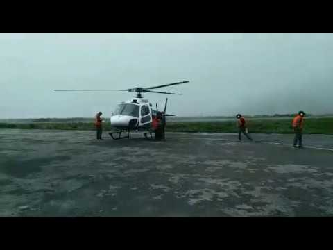 Air Force helicopters rescuing Indian pilgrims stranded at Kailash Mansarovar in Nepal