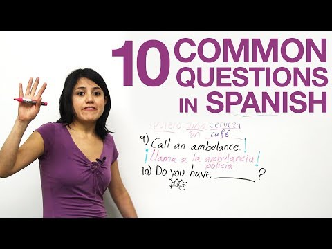10 common questions in Spanish