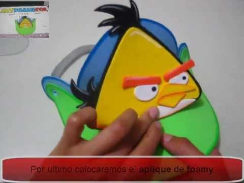 VISERAS EN FOAMY Pesonajes Angry Birds Con Moldes PlayList