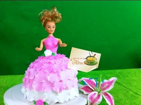 Como decorar un pastel de barbie - Pastel de fondant