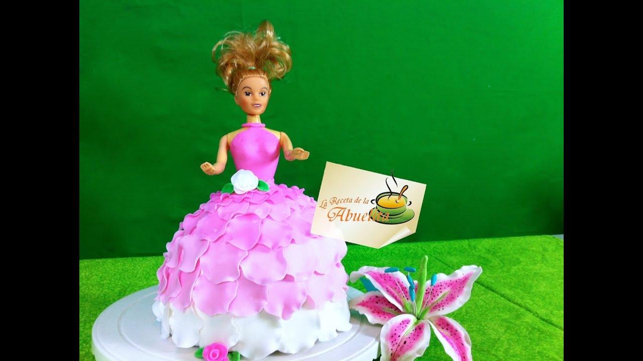 C mo decorar un pastel de barbie pastel de fondant la for Como decorar una torta infantil