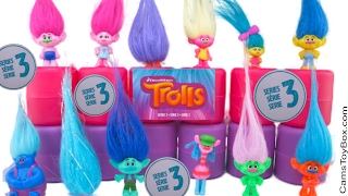 Dreamworks Trolls Blind Bags Series 3 Names Toy Review Toys Surprises Poppy Branch Smidge