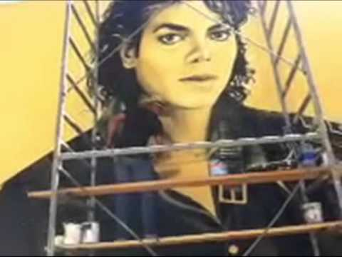 Arriving At The Michael Jackson Mural Site Levi Ponce Artist ...